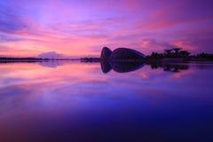 Nascer do sol do lago Imagens de Stock