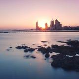 Nascer do sol do mar Foto de Stock