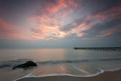 Nascer do sol do mar Imagens de Stock