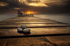 Nascer do sol do mar Imagem de Stock