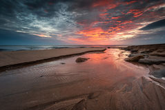 Nascer do sol do mar Fotos de Stock Royalty Free