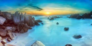 Nascer do sol do mar do KE GA, Binh Thuan Foto de Stock Royalty Free