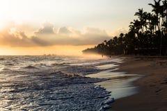 Nascer do sol do oceano da paisagem fotos de stock