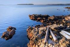 Nascer do sol do outono, console de Vancôver, Canadá Fotografia de Stock