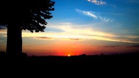 Nascer do sol do país Fotos de Stock
