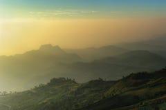 Nascer do sol do ponto de vista Fotografia de Stock