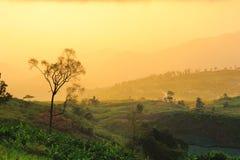 Nascer do sol do ponto de vista de Phutabberk Imagem de Stock