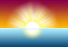 Nascer do sol do por do sol Imagens de Stock