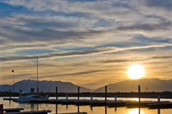 Nascer do sol do porto Foto de Stock