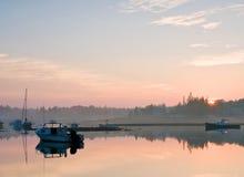 Nascer do sol do porto de Maine Imagem de Stock Royalty Free