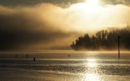 Nascer do sol do som de Puget Imagem de Stock Royalty Free
