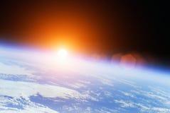 Nascer do sol do universo ilustração royalty free