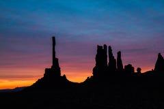 Nascer do sol do vale do monumento foto de stock