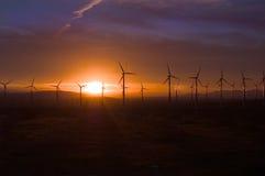 Nascer do sol do ventilador do vento Fotos de Stock Royalty Free
