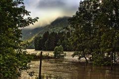 Nascer do sol do verão nas montanhas Fotografia de Stock Royalty Free