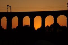 Nascer do sol do viaduto de Digswell Fotografia de Stock Royalty Free