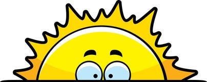 Nascer do sol dos desenhos animados Fotos de Stock Royalty Free