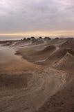 Nascer do sol dos vulcões da lama Imagem de Stock Royalty Free