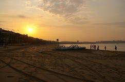 Nascer do sol dourado fotografia de stock royalty free