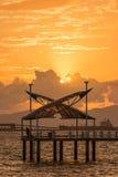 Nascer do sol dourado Imagem de Stock Royalty Free