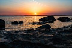 Nascer do sol dourado bonito Fotos de Stock Royalty Free