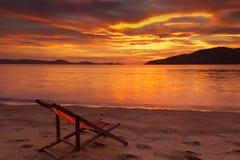 Nascer do sol dramático Foto de Stock