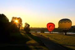 Nascer do sol Dresden, Alemanha Imagem de Stock
