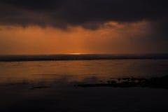 Nascer do sol e tempestade de aproximação Imagem de Stock Royalty Free