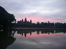 Nascer do sol em Angkor Wat Fotografia de Stock