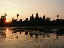 Nascer do sol em Angkor Wat Fotos de Stock