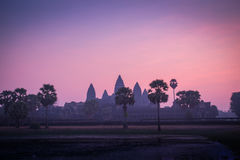 Nascer do sol em Angkor Wat, Cambodia Imagens de Stock