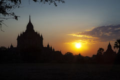 Nascer do sol em Bagan Imagem de Stock Royalty Free