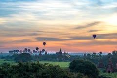 Nascer do sol em Bagan, Myanmar imagem de stock royalty free