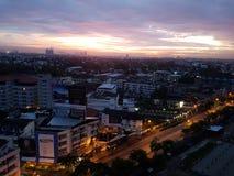 Nascer do sol em Banguecoque Imagens de Stock Royalty Free