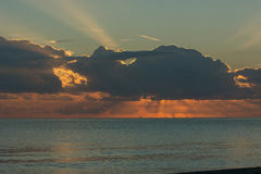 Nascer do sol em bastia Imagem de Stock Royalty Free