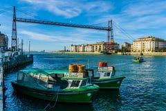 Nascer do sol em Bilbao Foto de Stock Royalty Free