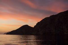 Nascer do sol em Catalina Island Fotografia de Stock