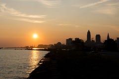 Nascer do sol em Cleveland Imagem de Stock Royalty Free