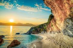 Nascer do sol em Corfu, Grécia foto de stock royalty free