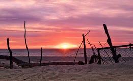 Nascer do sol em Costa Azul Surf Beach, Los Cabos fotografia de stock royalty free