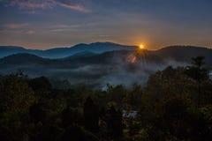 Nascer do sol em Doi Inthanon Imagens de Stock Royalty Free
