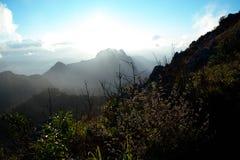 Nascer do sol em Doi Luang Chiangdao Fotos de Stock Royalty Free