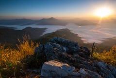 Nascer do sol em Doi Pha Tang Foto de Stock Royalty Free