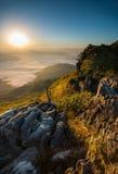 Nascer do sol em Doi Pha Tang Fotos de Stock Royalty Free