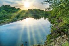 Nascer do sol em dos Reis de Angra Fotografia de Stock