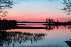 Nascer do sol em Finlandia Imagem de Stock