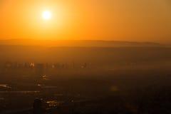 Nascer do sol em Haifa de Louis Promenade fotos de stock