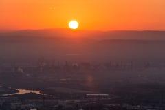 Nascer do sol em Haifa de Louis Promenade imagens de stock royalty free