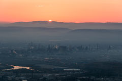 Nascer do sol em Haifa de Louis Promenade imagem de stock royalty free