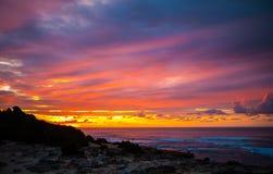 Nascer do sol em Havaí Imagem de Stock